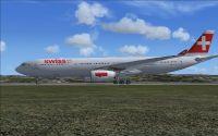 Swiss Airbus A330-343Eon runway.