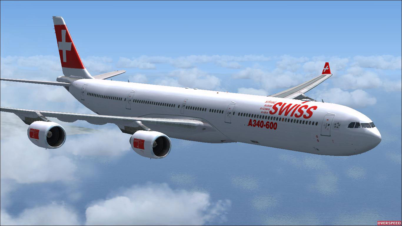 swiss airbus a340 600 for fsx. Black Bedroom Furniture Sets. Home Design Ideas