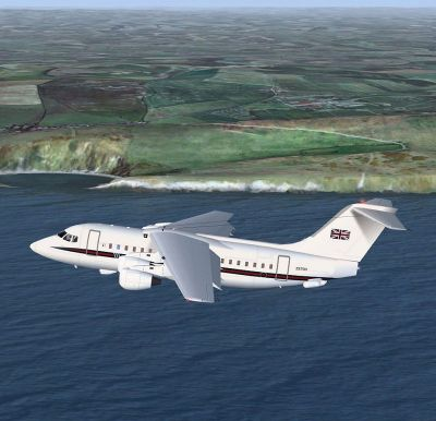 Swiss British Aerospace 146-100 in flight.