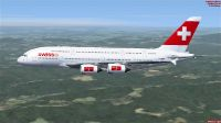 Swiss International Airlines Airbus A380-800 in flight.