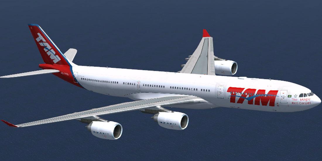 tam linhas aereas a340 541 for fsx
