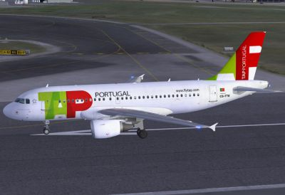 Tap Portugal Airbus A319-111 on runway.