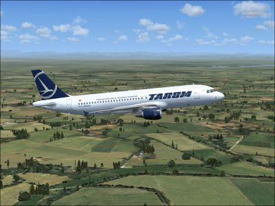 Tarom Airbus A321 / A320 in flight.