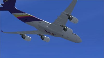 Thai Airways Airbus A340-541 in flight.