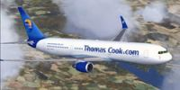 Thomas Cook Airlines Boeing 767-31K in flight.