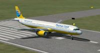 Thomas Cook Aribus A321 on runway.