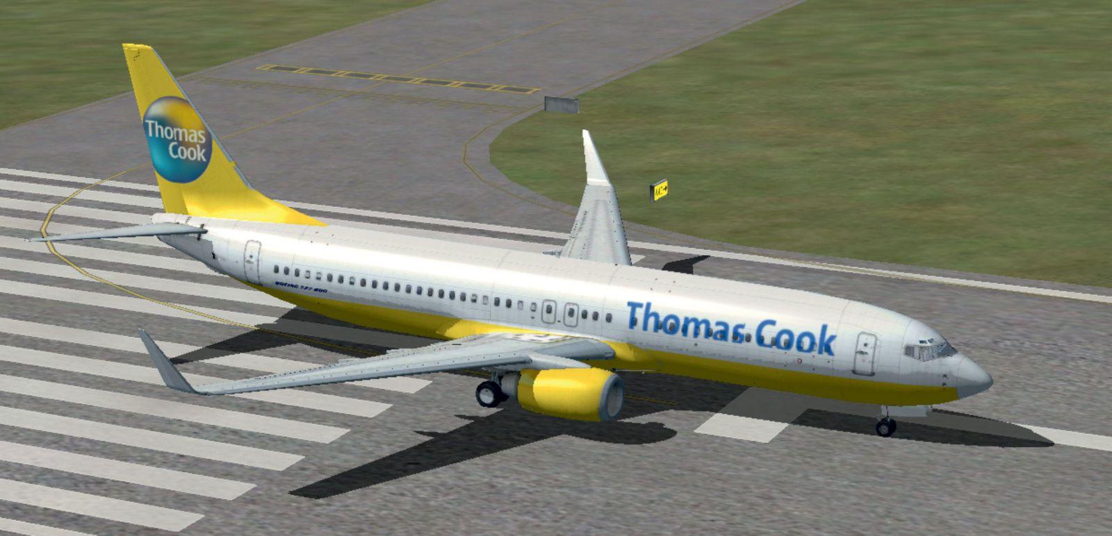Thomas cook boeing 737 800 on runway