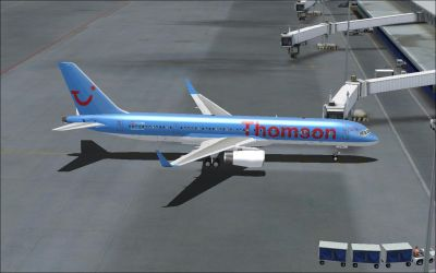 Thomson Airways Boeing 787-8 on tarmac.
