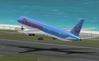 Thomson Airways Boeing 767-300ER taking off.