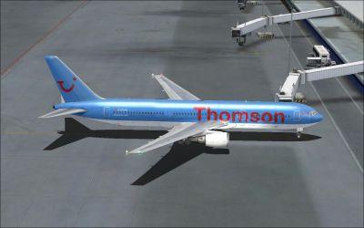Thomson Airways Boeing 767-300ER on tarmac.