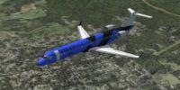 Titan Airlines CRJ 700 in flight.