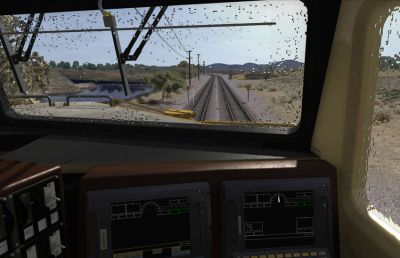 Train drivers cabin