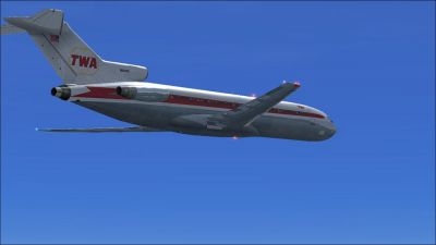 Trans World Airlines Boeing 727-200 in flight.