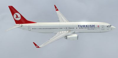 Old Turkish Airlines Boeing 737-800.
