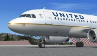 United Airlines Airbus A320 on tarmac.