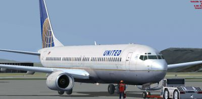 United Airlines Boeing 737-800.