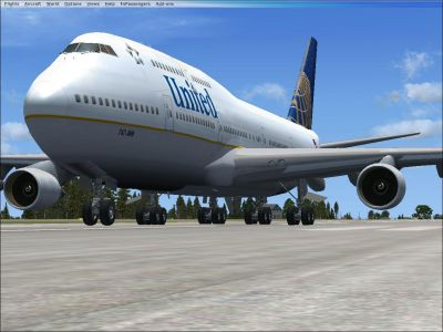 United Airlines Boeing 747-400.