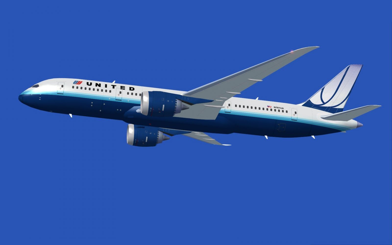 United airlines boeing 787 8 for fsx for Airplane plans