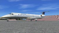 United Express Embraer ERJ-145LR on tarmac.