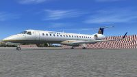 United Express Embraer ERJ-145XR on tarmac.