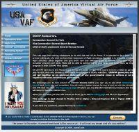 Screenshot of the USA VAF website.