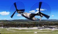 Bell-Boeing V-22 Osprey tiltrotor helicopter for FSX.