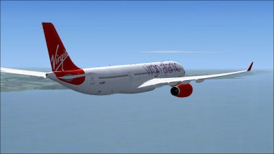 Virgin Atlantic Airbus A330-300 in flight.