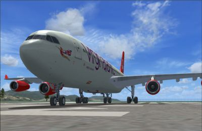 Virgin Atlantic Airways Airbus A340-300.