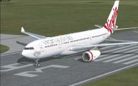 Virgin Australia Airbus A330-200 on runway.