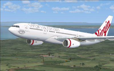 Virgin Australia Airbus A330-200 in flight.