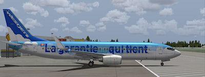 Westjet Care-Antee Boeing 737-800.