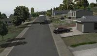Neighbourhood scenery in X-Plane 10