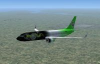 Xbox 360 Boeing 737-800 in flight.