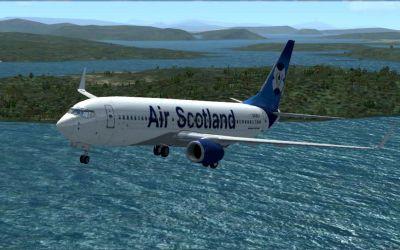 Xtra Airways Boeing 737-800 in flight.