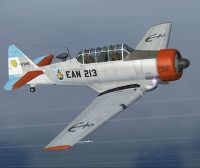 Screenshot of Argentinian Navy North American T-6 EAN-213 in flight.