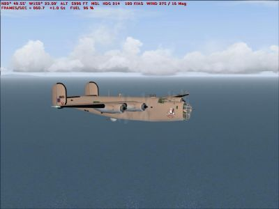 Screenshot of USAF Consolidated B-24 in flight.