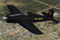 Screenshot of Blue Angels Grumman F6F Hellcat in flight.