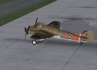 Screenshot of Bristol Beaufighter RD351 on the ground.