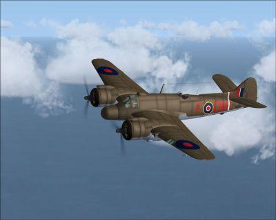 Screenshot of Bristol Beaufighter RD351 in flight.