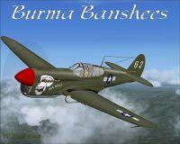 Screenshot of Burma Banshees Curtiss P-40 in flight.