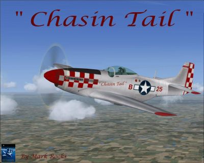 Screenshot of Chasin Tail P-51D in flight.
