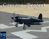 Screenshot of Corsair on the ground.