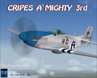 Screenshot of Cripes A' Mighty 3rd P-51 in flight.