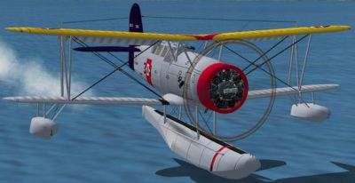 Screenshot of Curtiss SOC-3 Seagull over water.