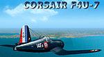 Corsair F4U-7 in flight.