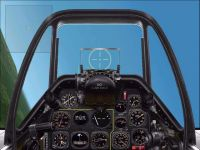 Virtual cockpit of Grumman F-8 Bearcat.