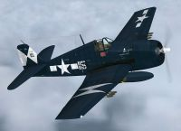 Screenshot of Grumman F6F Hellcat in flight.