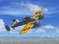 Screenshot of Grumman XF5F-1 Skyrocket in flight.