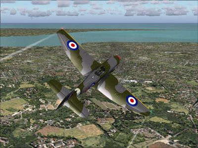Screenshot of Hawker Tempest VI in flight.