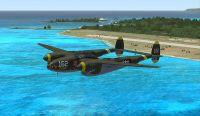 Screenshot of Lockheed P-38J 'Skidoo' in flight.